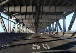 SAN FRANCISCO, CA - APRIL 1: Traffic moves on the lower deck of the Bay Bridge during the late afternoon rush hour in San Francisco, Calif., during day sixteen of shelter-in place order on Wednesday, April 1, 2020. (Ray Chavez/Bay Area News Group)