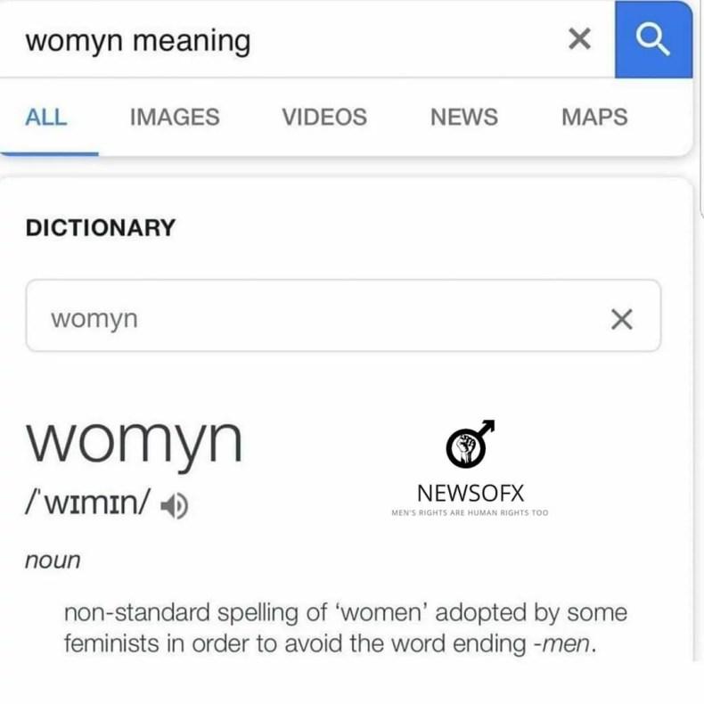womyn meaning meme