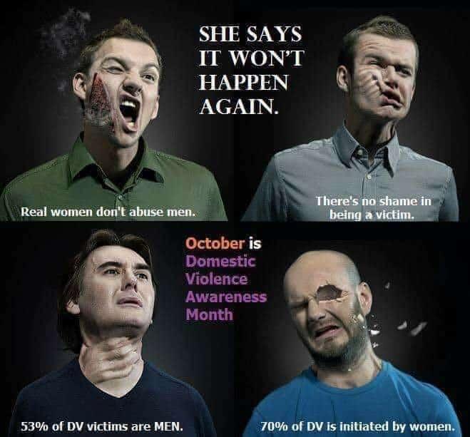 real women don't abuse men meme