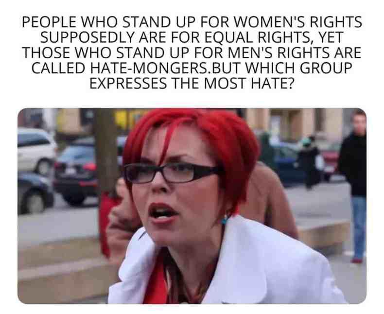 men's rights hate mongers meme