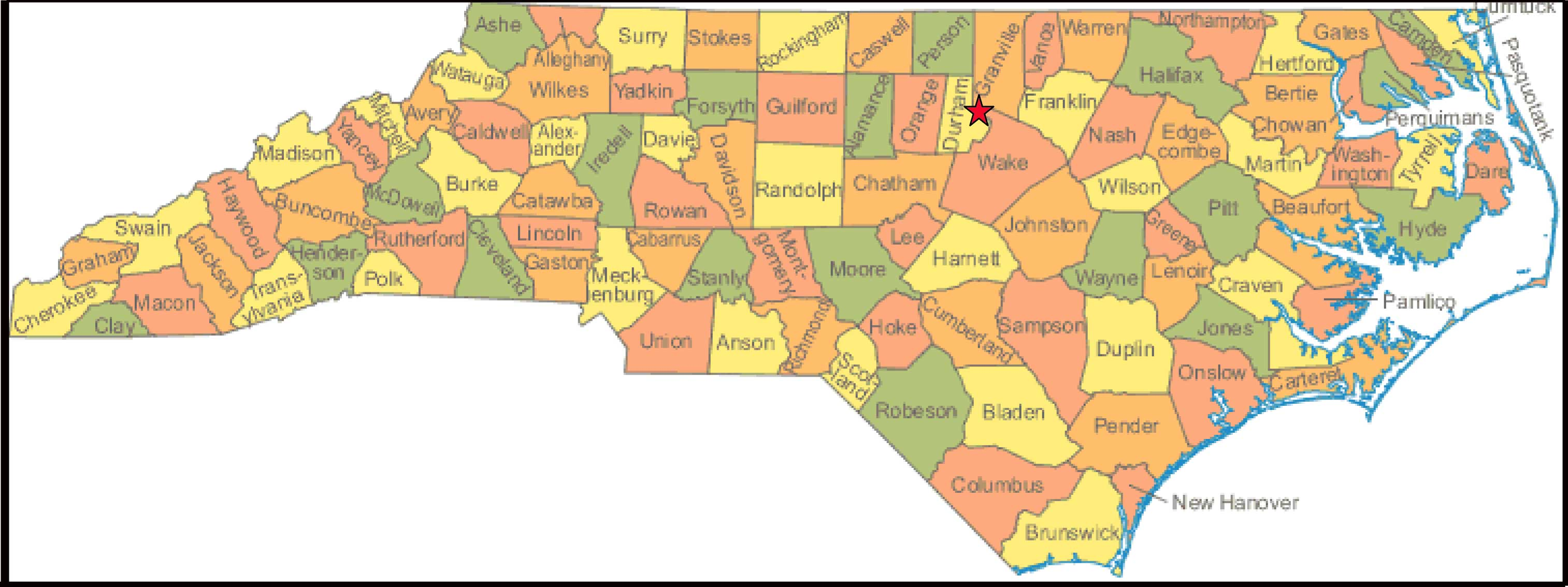 state of nc map Nc State Map Newsoil Vermiculture Llc