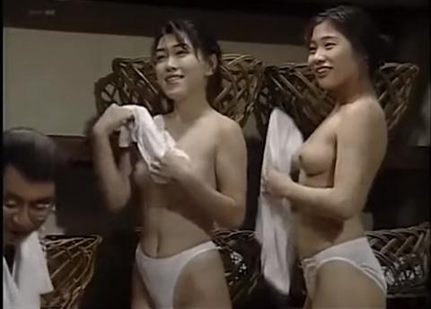 ドリフの大爆笑-温泉-おっぱい