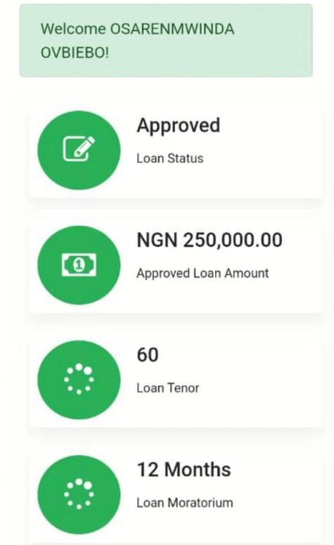 NYIF Loan Status Checker | https://nyif.nmfb.com.ng/app