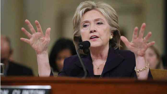 Hillary Clinton testifies to the committee investigating the Benghazi attacks in 2015