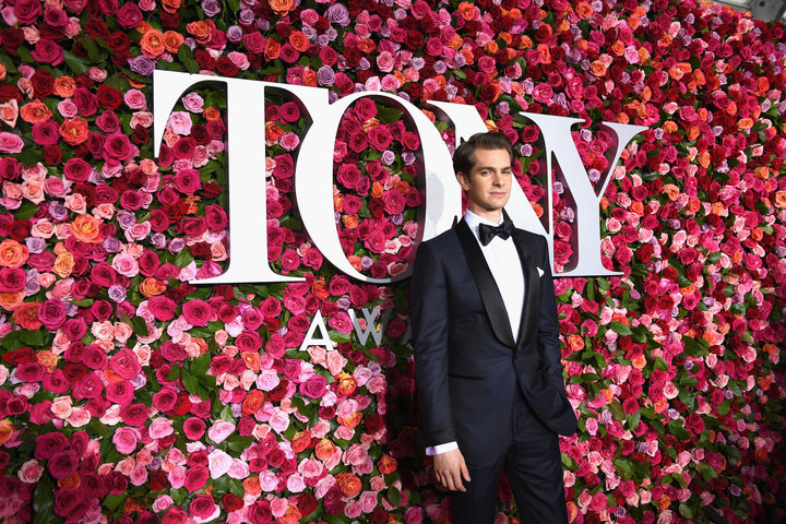Andrew Garfield attends the 72nd Annual Tony Awards.