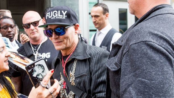 Johnny Depp and Joe Perry are seen arriving at the regent Hotel in Berlin, Germany.Johnny is currently on tour with his rock group Hollywood Vampires.Pictured: Johnny DeppRef: SPL5000984 030618 NON-EXCLUSIVEPicture by: SplashNews.comSplash News and PicturesLos Angeles: 310-821-2666New York: 212-619-2666London: 0207 644 7656Milan: +39 02 4399 8577photodesk@splashnews.comWorld Rights