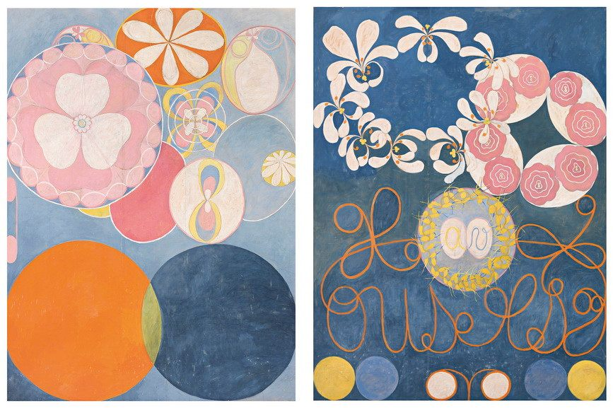 Left Hilma af Klint - The Ten Largest, No. 2 Right Hilma af Klint - The Ten Largest, No. 1, Childhood