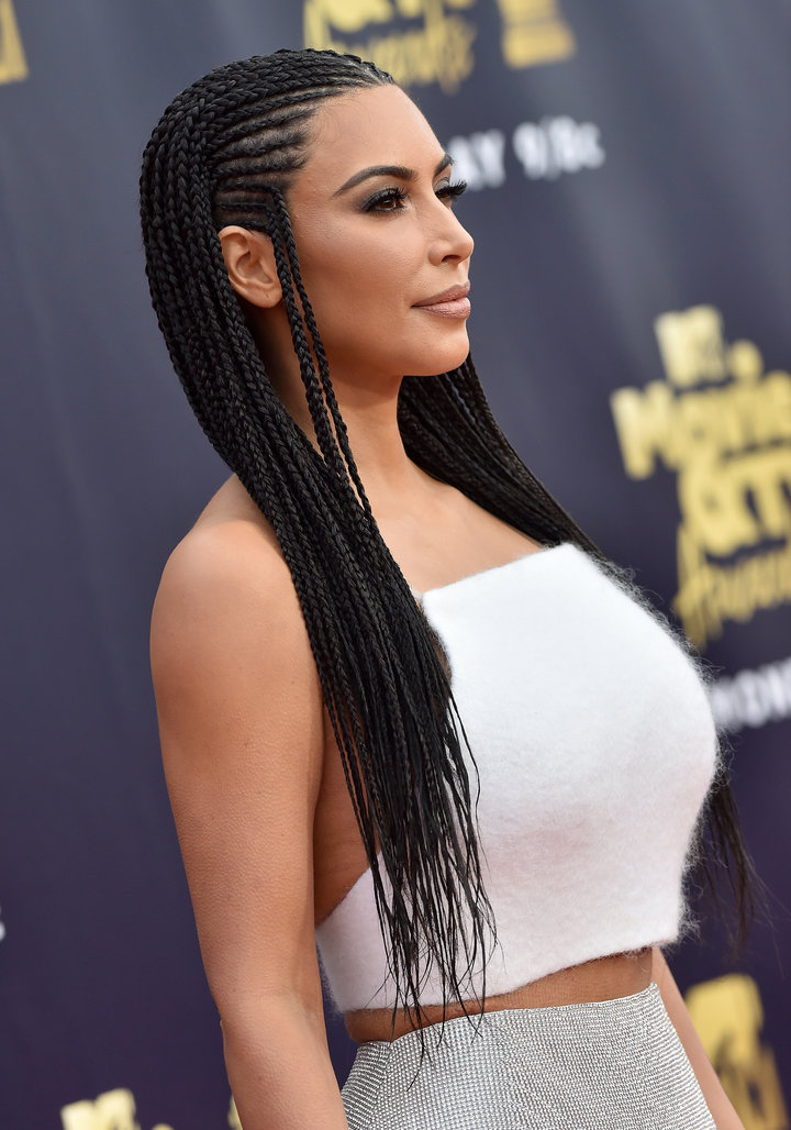 Kim Kardashian attends the 2018 MTV Movie And TV Awards at Barker Hangar on June 16 in Santa Monica, California.