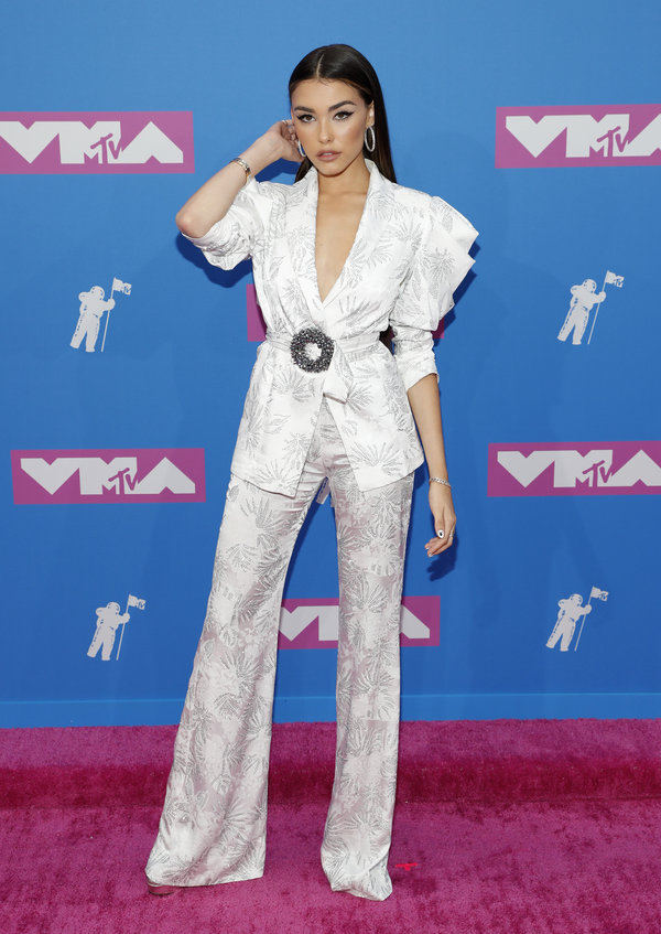 2018 MTV Video Music Awards - Arrivals - Radio City Music Hall, New York, U.S., August 20, 2018. - Madison Beer. REUTERS/Andr