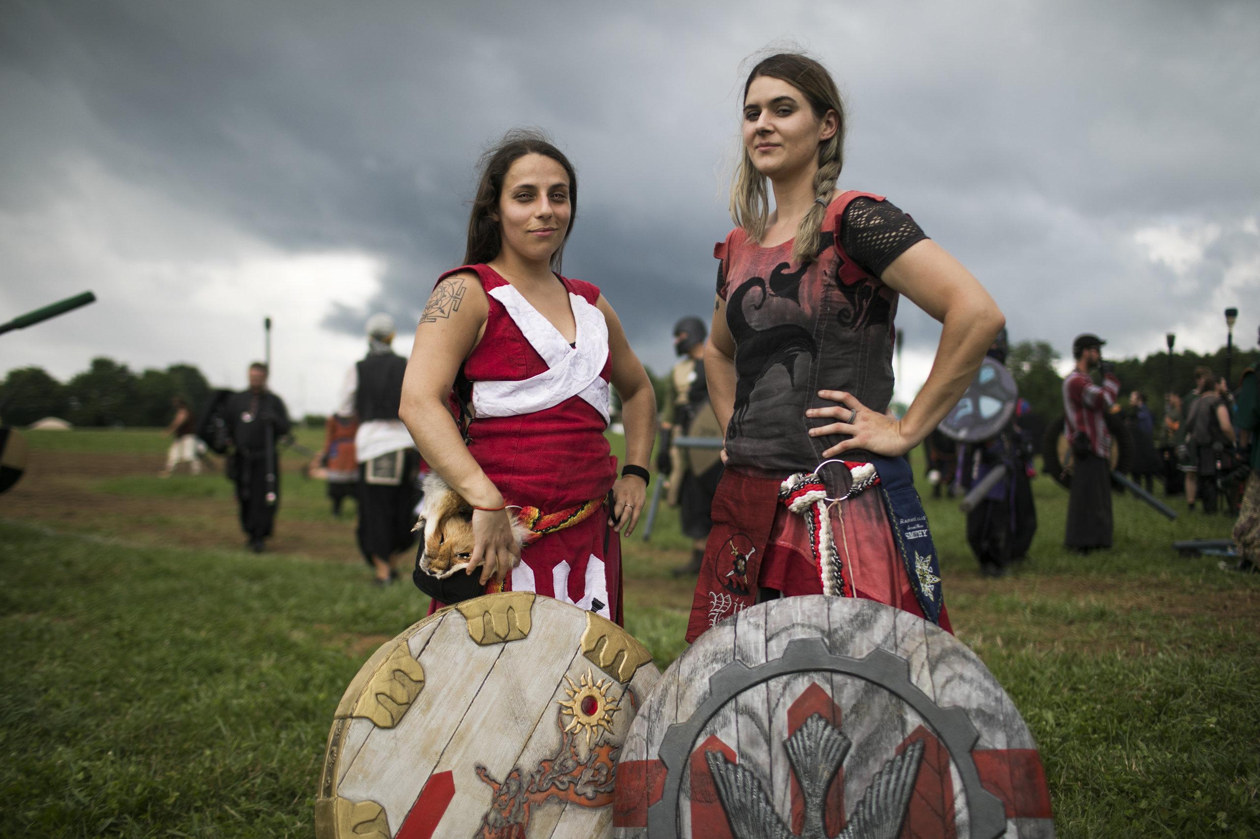 Ianje Castallanos and Sev Gedra, Queens of Ragnarok.