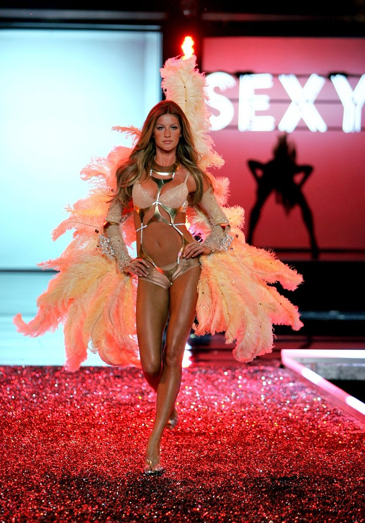 Bündchen walks the runway during the Victoria's Secret Fashion Show in November 2006 in Hollywood.