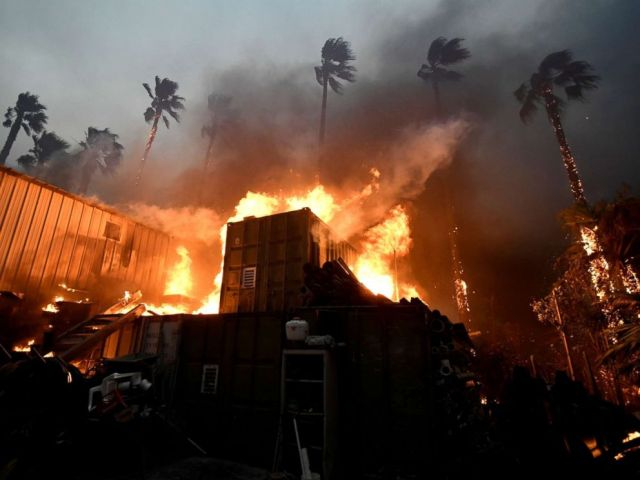 PHOTO: A home is engulfed in flames during the Woolsey Fire in Malibu, Calif., Nov. 9, 2018.