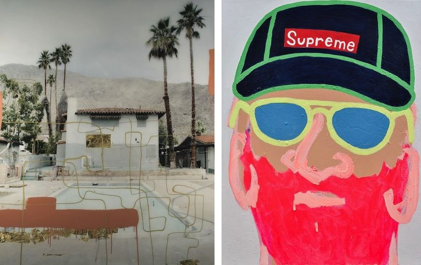 Christine Flynn - Palm Springs Pool, Helen Cenedese - Beard Man #3 at SCOPE