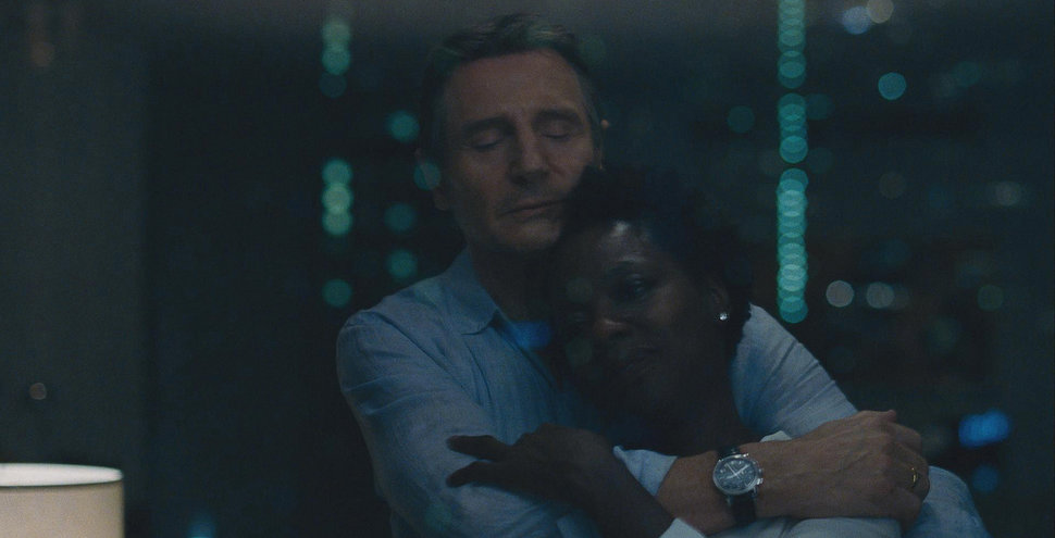 "Liam Neeson and Viola Davis in ""Widows."""
