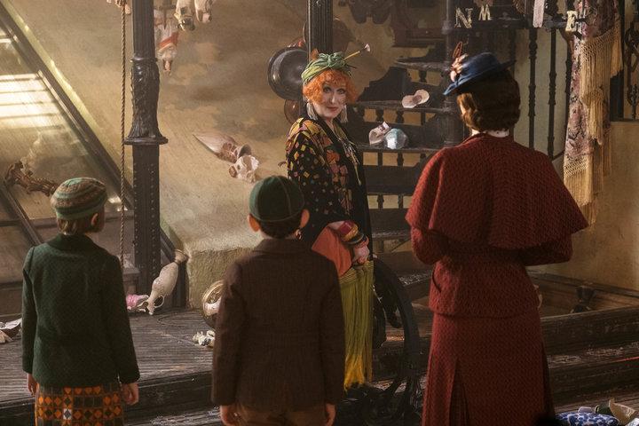 "Meryl Streep in ""Mary Poppins Returns."""