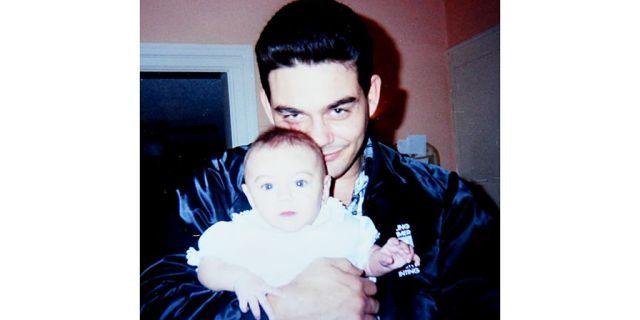 Richard Matt holding Jamie Scalise when she was an infant.