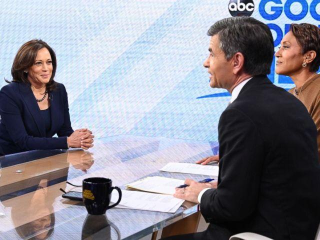 PHOTO: Senator Kamala Harris appears on Good Morning America, Jan. 21, 2019.
