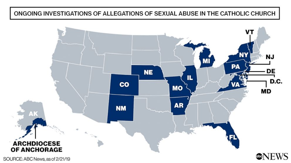 Ongoing Investigations of Allegations of Sexual Abuse in the Catholic Church