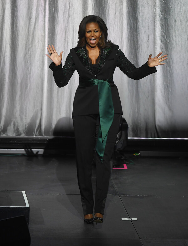 Wearing a custom green embellished Dundas tuxedo in Oslo, Norway, on April 11.