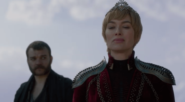 Euron behind Cersei during the meetup with Dany and Tyrion.