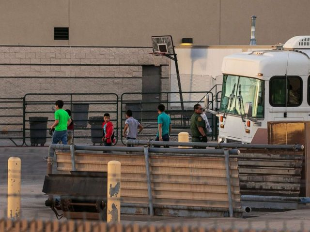PHOTO: Boys are dropped off at the Border Patrol station in Clint, Texas, July 4, 2019.