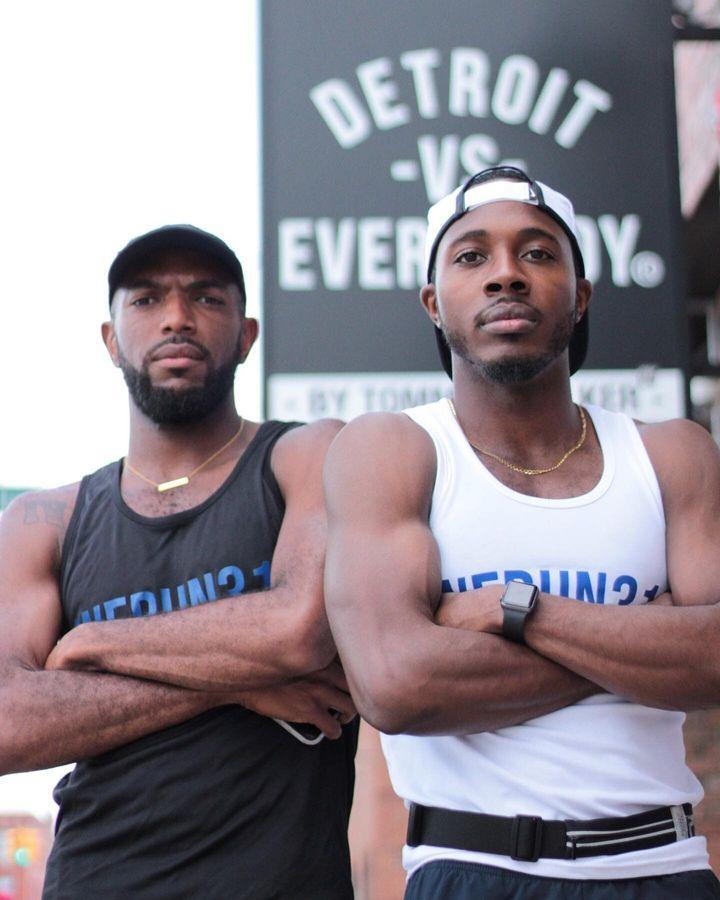 Joe Robinson and Lance Woods, founders of We Run 313.