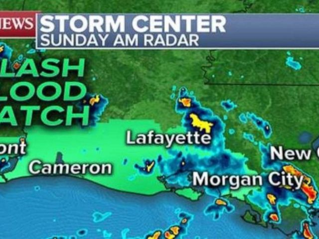 PHOTO: A disturbance in the Gulf is threatening the coast with heavy rains and possible flash floods.