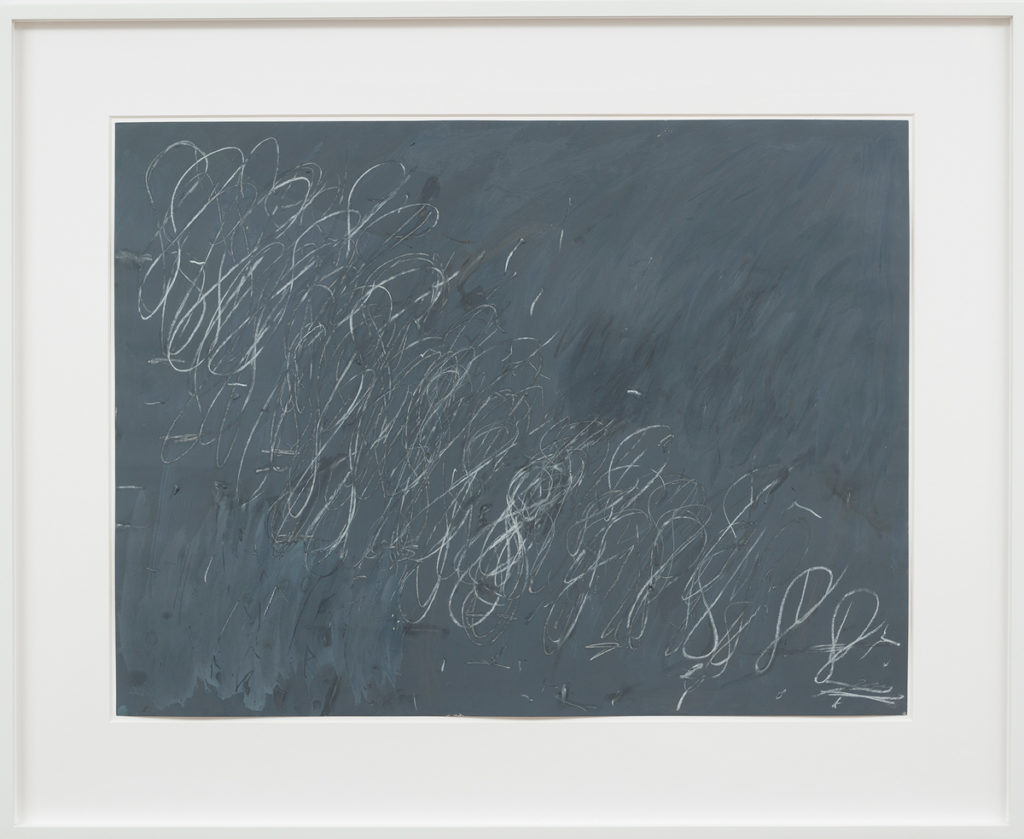 Cy Twombly, Untitled [New York City], 1968, oil, chalk, and gouache on paper.