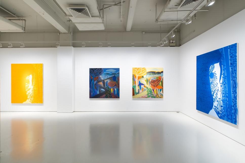 """Installation view of """"Matthew Wong: Day by Night"""" at Massimo de Carlo, Hong Kong, 2019."""