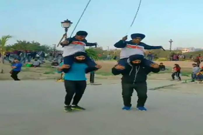 stunt with skipping rope video goes viral