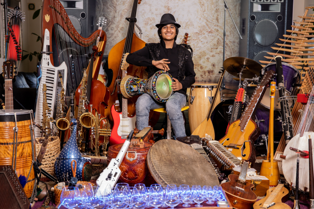 So you thought 'Prince' played a lot of instruments ? Check out 'Neil Nayyar' who already has 107 musical instruments under his belt.