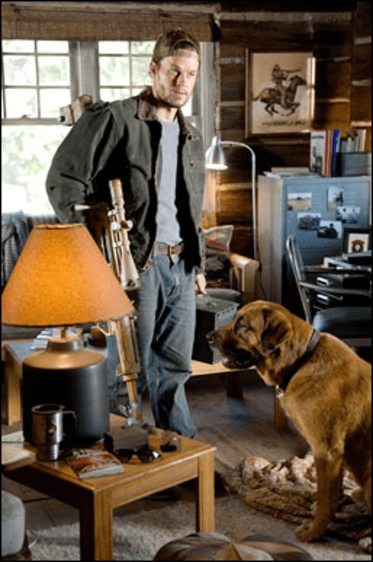 For Dog and Country: Wahlberg gears up to secure his home and expose a conspiracy.