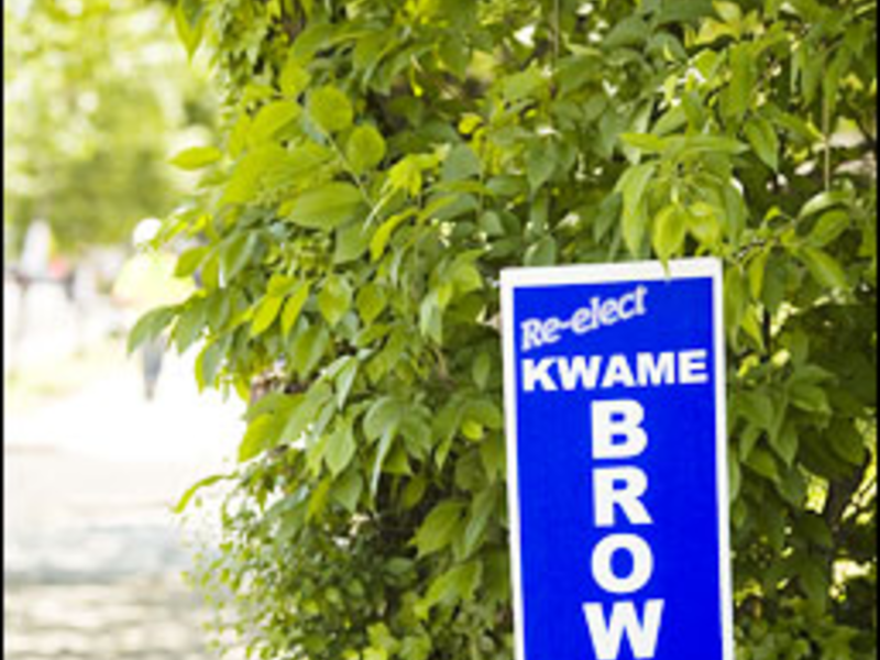 The Early Show: 16 months ahead of Election Day, Brown?s already planting signs.