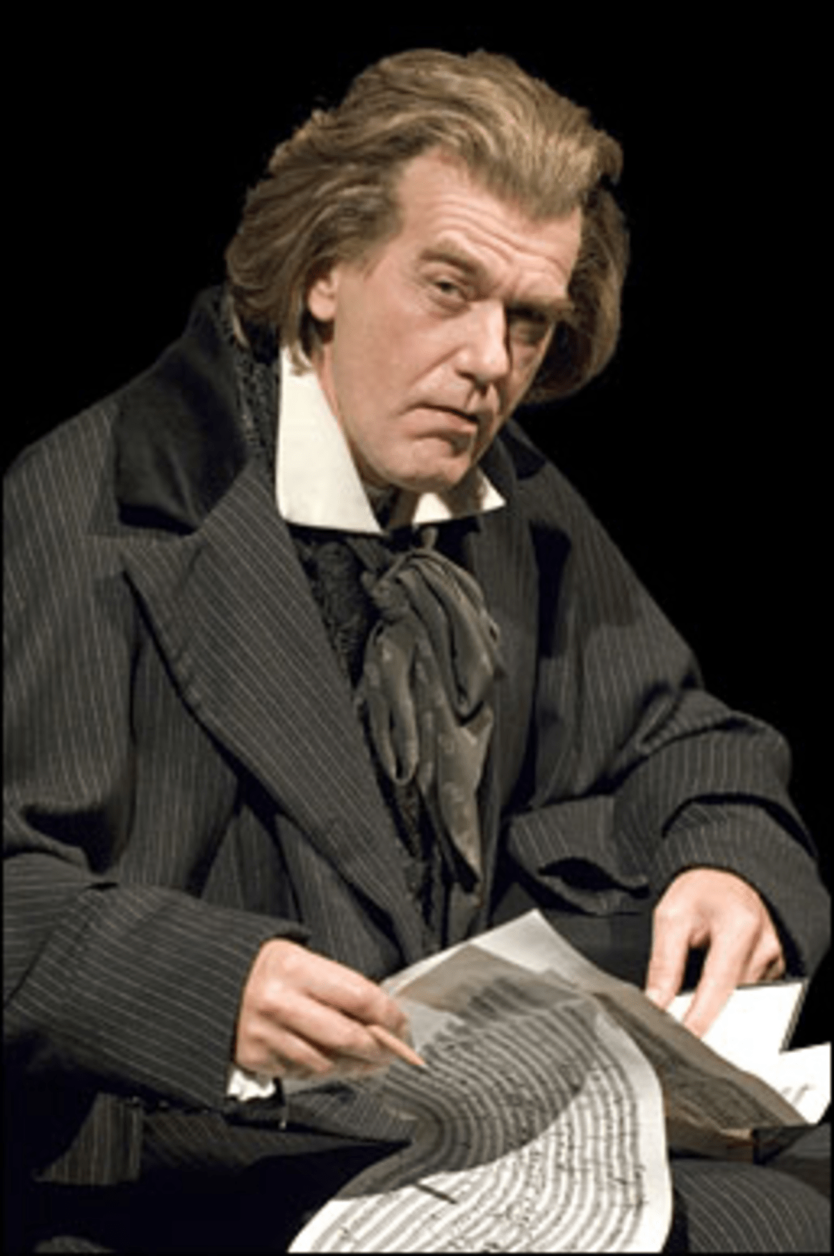Van Ailin?: Beethoven loses hearing, qualms about new project.