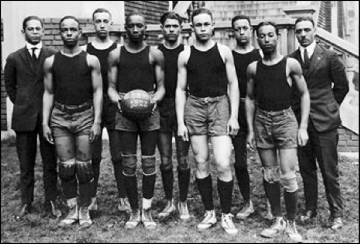 The 1922 Dunbar Champs. E.B. Henderson is far right.