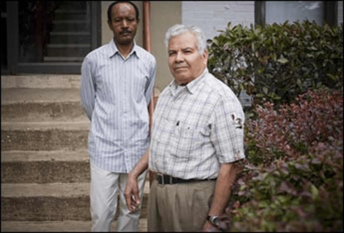 Grounds for Dispute: Mesfun Berhane, left, and Hector Zelada question the motives behind their co-op?s fee hike.