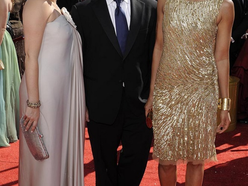 """Gail Simmons, Tom Colicchio, Padma Lakshmi, from the show """"Top Chef,"""" arrive for the 60th Primetime Emmy Awards in Los Angeles, Sunday, Sept. 21, 2008.  (AP Photo/Chris Pizzello)"""