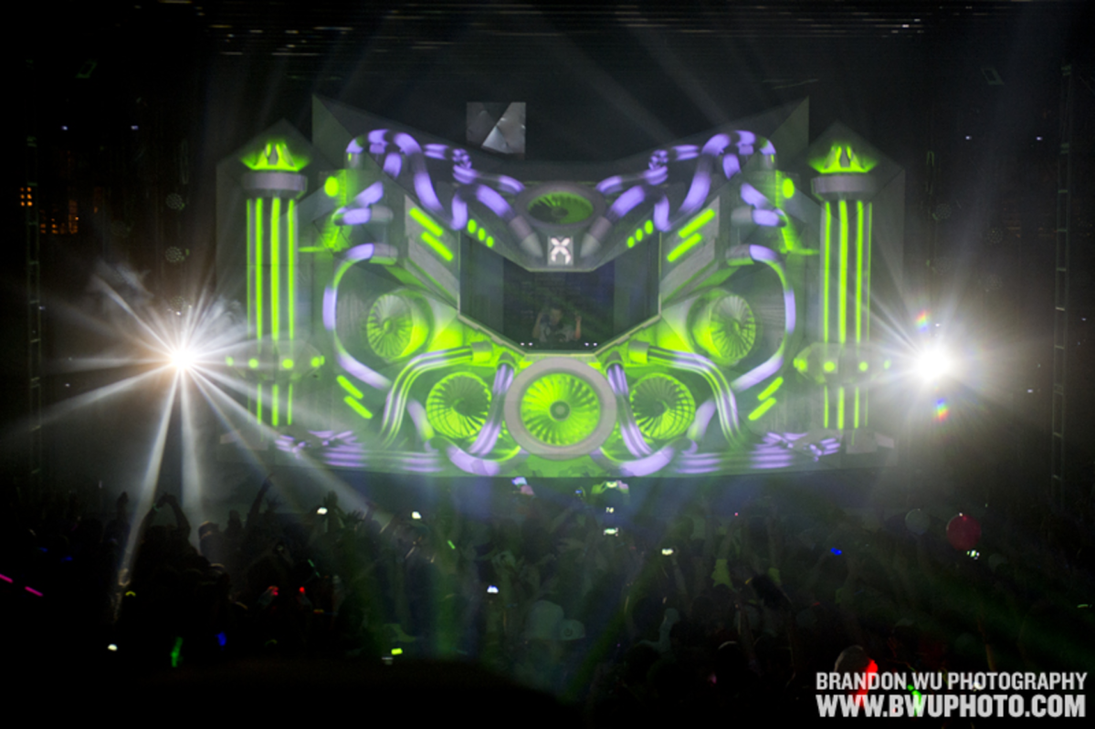 WASHINGTON, DC: Excision performs at the reopening of Echostage after major renovations. Saturday, March 23, 2013. ? Brandon Wu / for the Washington City Paper.