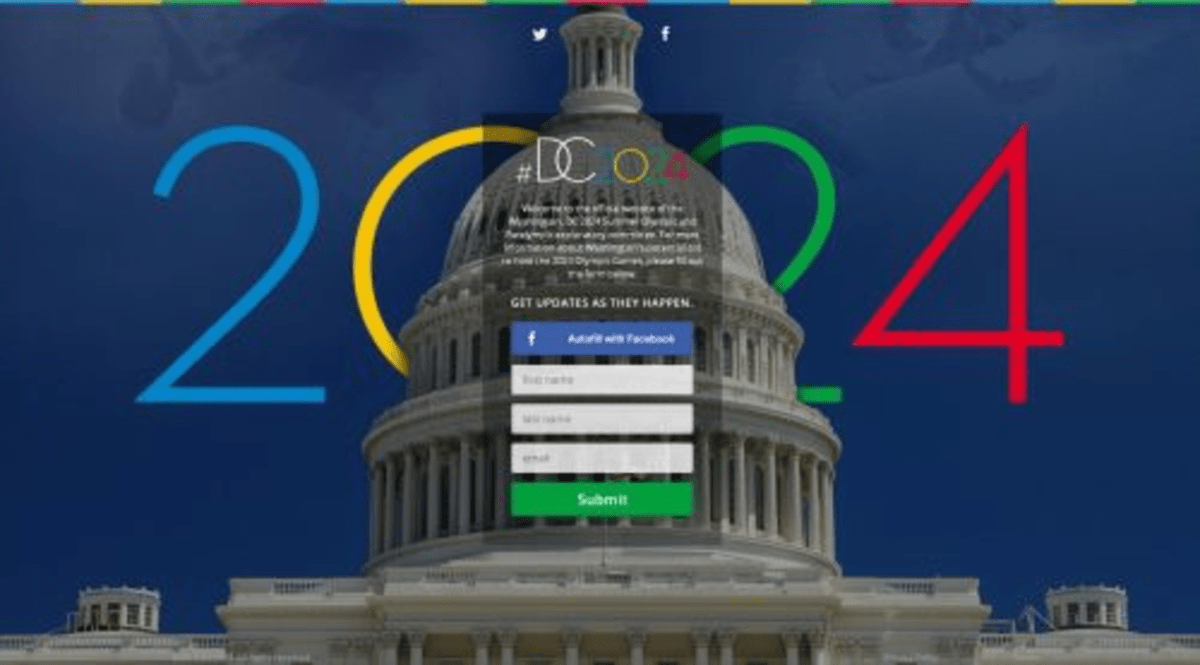 A website set up in 2013 to promote D.C.'s Olympics bid