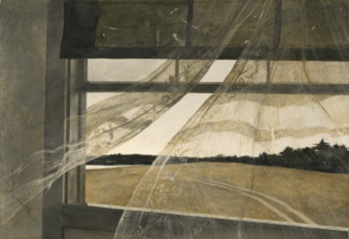 """""""Wind from the Sea"""" by Andrew Wyeth (1947)"""