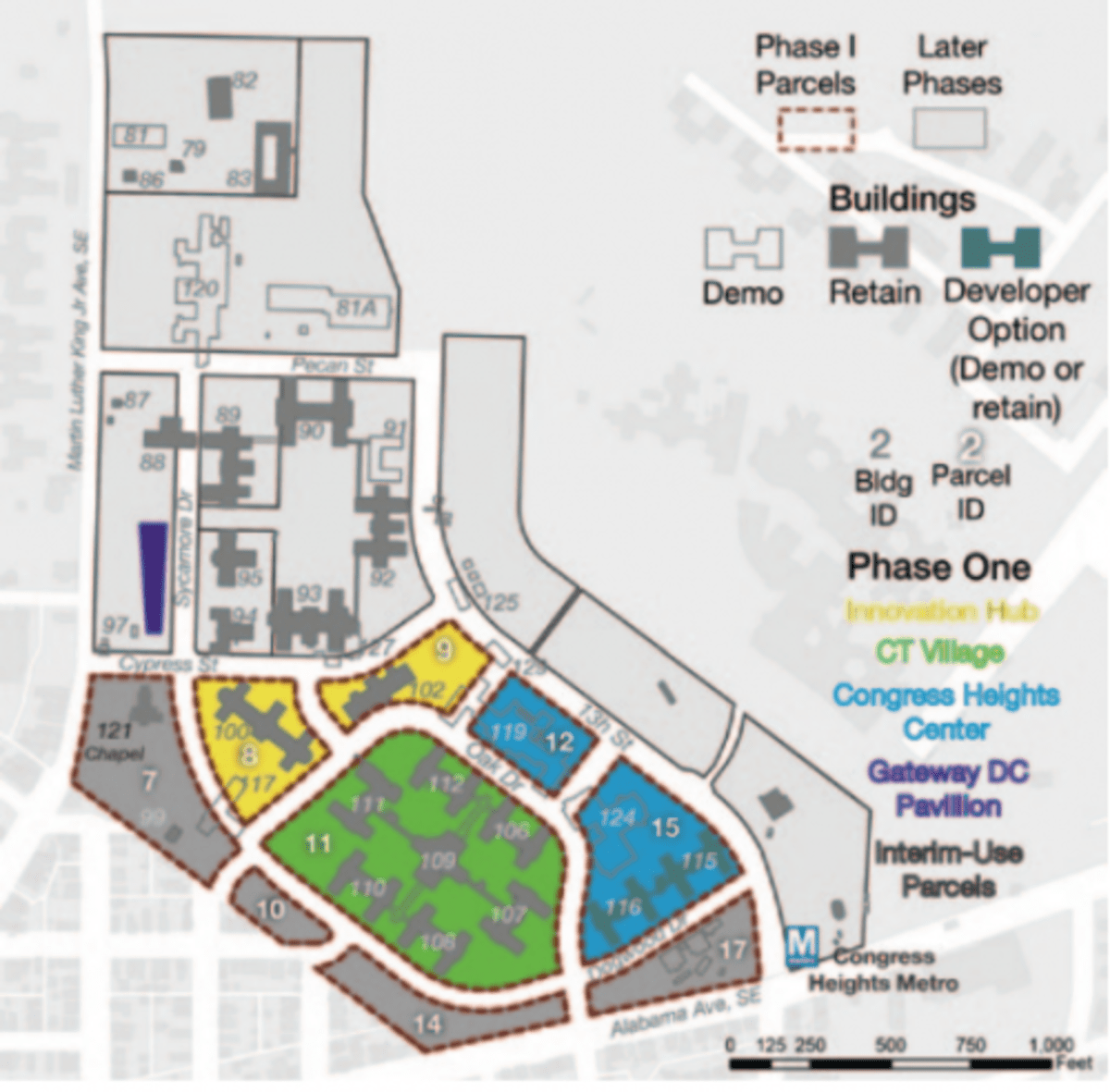 A map from the city of the first phase of development at St. Elizabeths