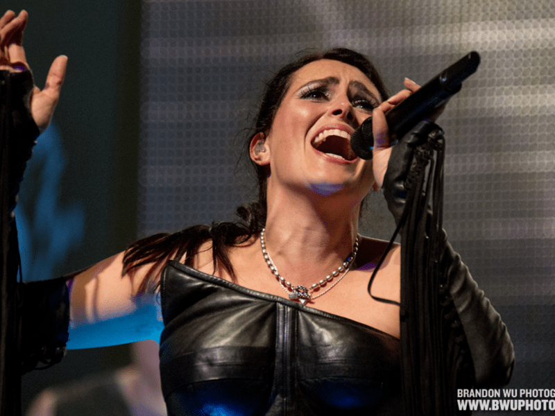 BALTIMORE, MD: Within Temptation performs at Ram's Head Live. October 7, 2014. ? Brandon Wu / for the Washington City Paper.
