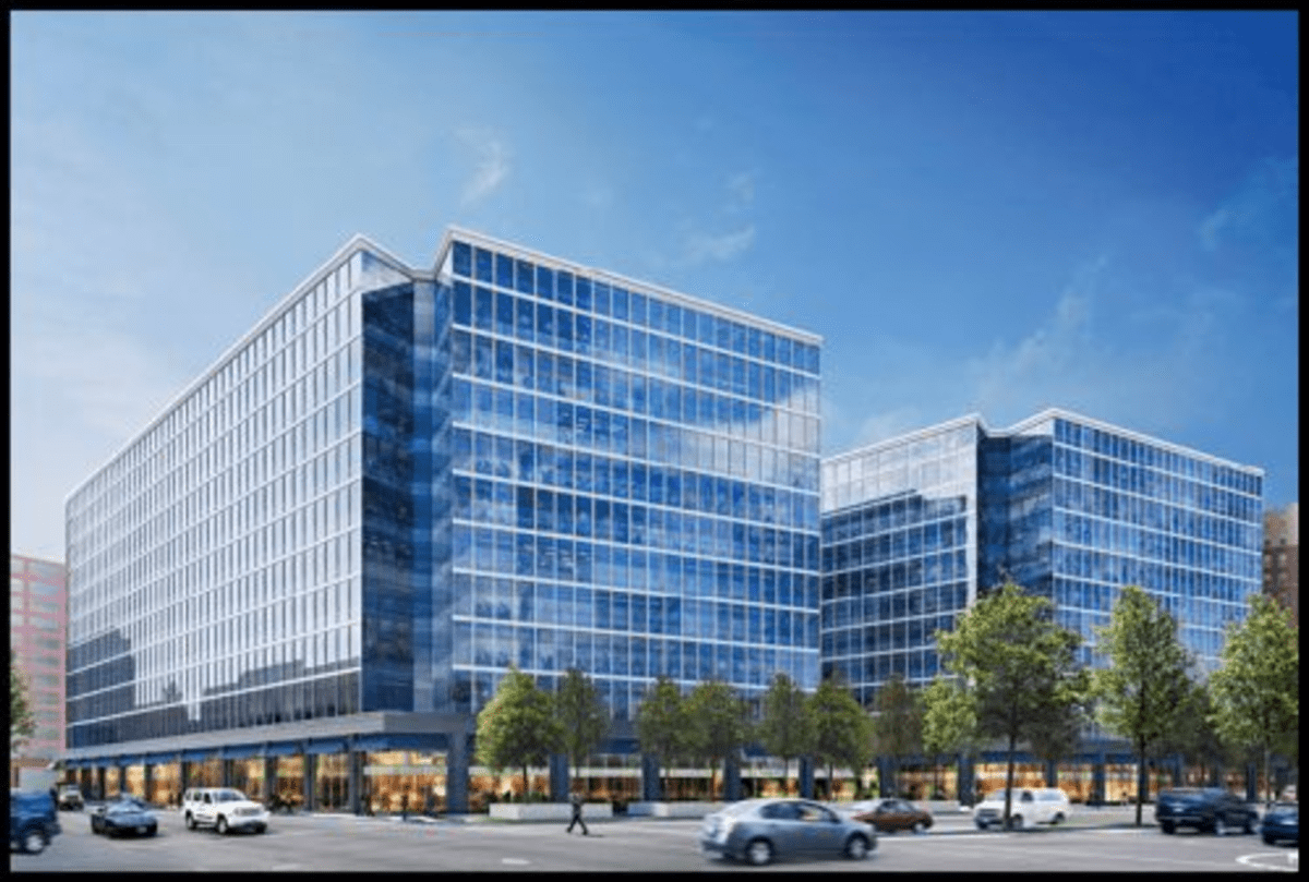 A rendering of Capitol Crossing, with more than 2 million square feet of offices, residences, and retail.