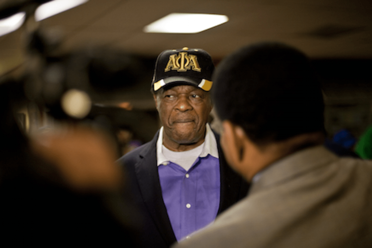Marion Barry at Muriel Bowser's Victory Party, November 2014