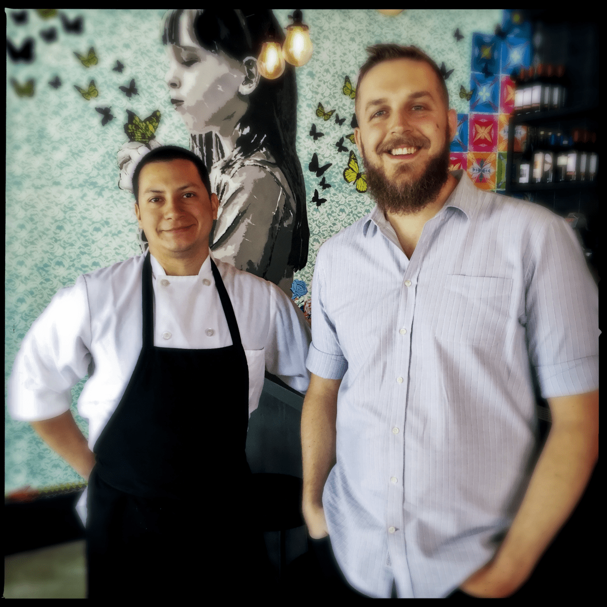 Chef Alexis Samayoa and owner Josh Phillips