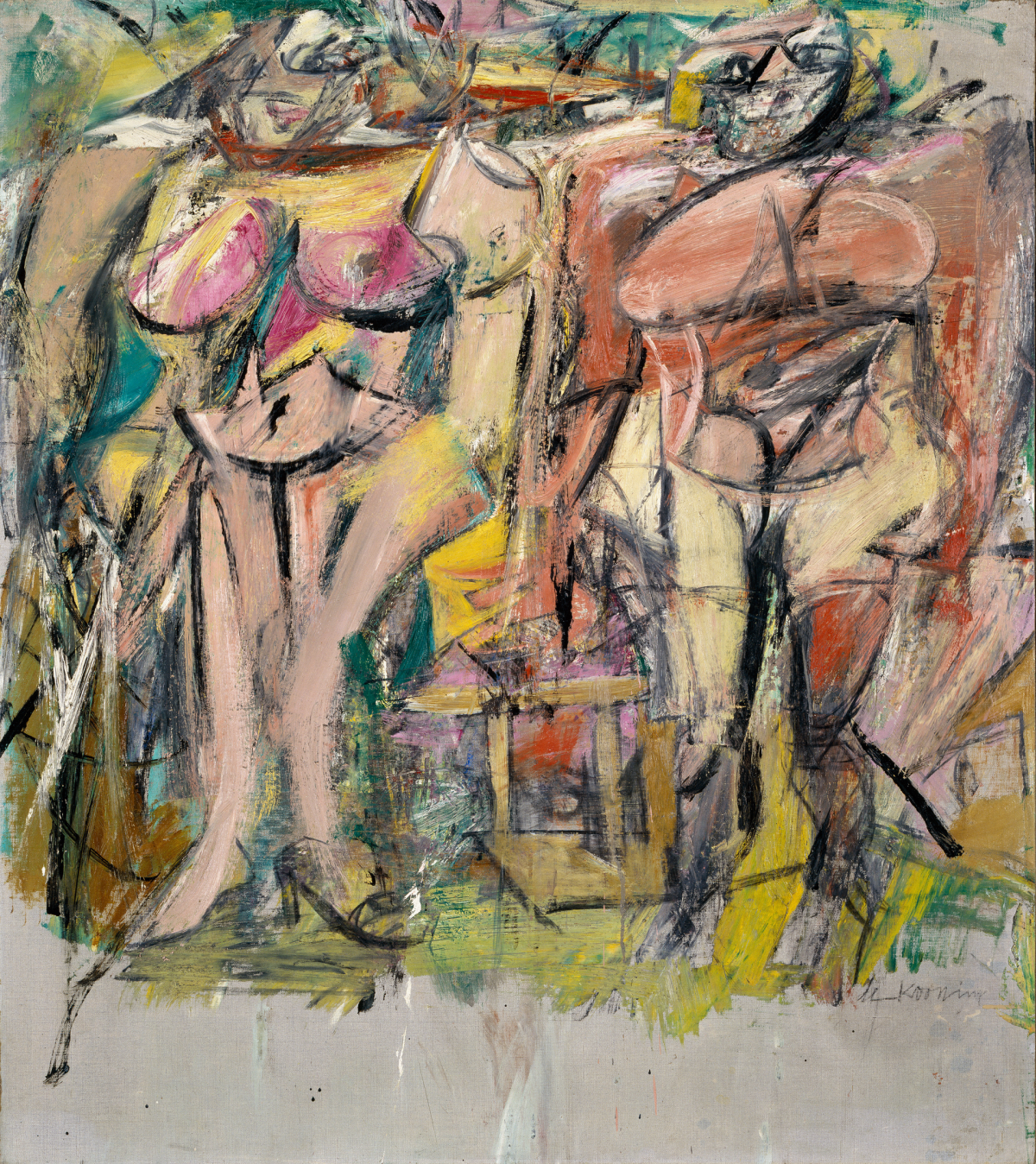 """Two Women in the Country"" by Willem de Kooning (1954)"