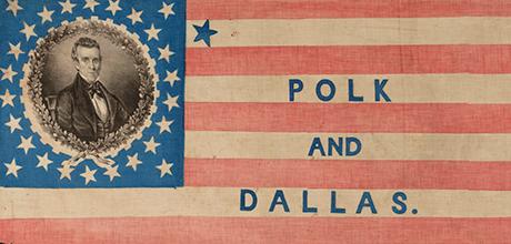 27-Star James K. Polk and George M. Dallas Campaign Parade Flag