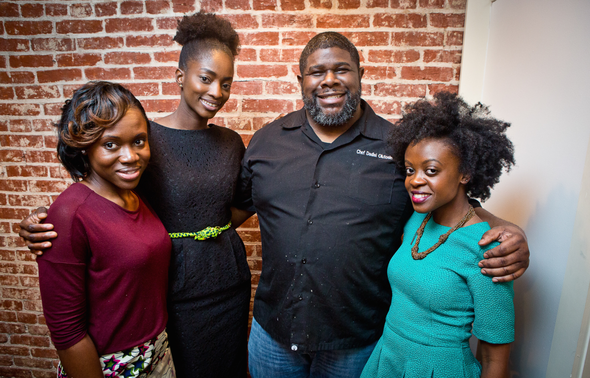 Dine Diaspora co-founders with past featured chef, Dadisi Olutosin