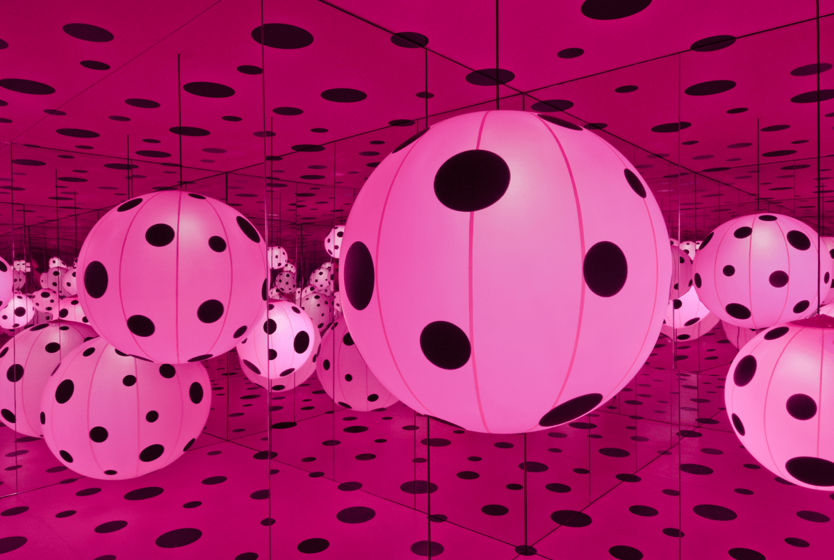 """""""Dots Obsession – Love Transformed Into Dots"""" by Yayoi Kusama (2007)"""