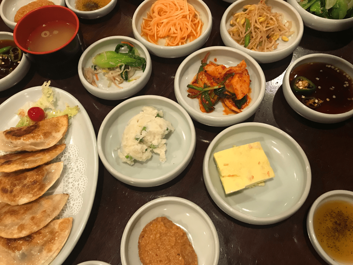 Photo of banchan by Laura Hayes